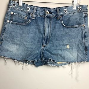 Rag & Bone Rocklin Distressed Cutoff Shorts